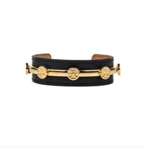 Nwot tory burch leather logo cuff